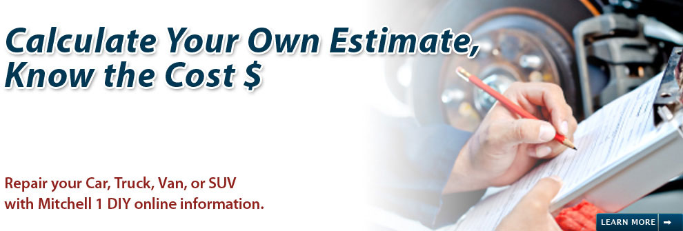 Calculate Your own Auto Repair Estimate